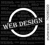 web design  developer ... | Shutterstock .eps vector #742080220