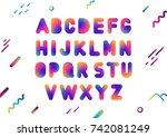 vector uppercase ultramodern... | Shutterstock .eps vector #742081249