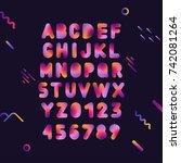 vector capital trendy gradient...   Shutterstock .eps vector #742081264