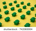 row of houses  for real estate | Shutterstock . vector #742083004