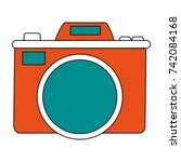 photographic camera icon image | Shutterstock .eps vector #742084168