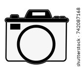 photographic camera icon image  | Shutterstock .eps vector #742087168