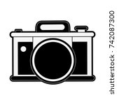 photographic camera icon image  | Shutterstock .eps vector #742087300