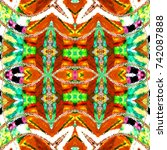 melting colorful symmetrical... | Shutterstock . vector #742087888