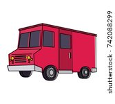 food truck icon image  | Shutterstock .eps vector #742088299