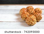 some typical spanish pastry ... | Shutterstock . vector #742093000