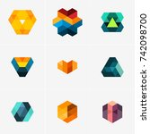 modern abstract design vector... | Shutterstock .eps vector #742098700