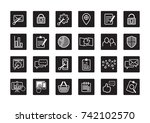 online web icon and business... | Shutterstock .eps vector #742102570