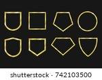 gold frame set | Shutterstock .eps vector #742103500