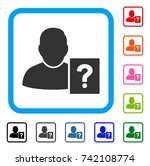 user status question icon. flat ... | Shutterstock .eps vector #742108774