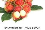 Rambutan Fruit On A White...
