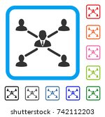 user connections icon. flat... | Shutterstock .eps vector #742112203