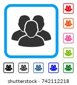 user group icon. flat gray...