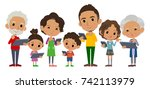 family 3 generations internet... | Shutterstock .eps vector #742113979