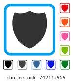 shield icon. flat grey iconic...