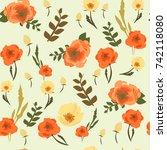 flower pattern | Shutterstock .eps vector #742118080