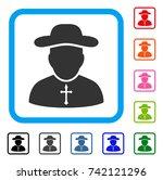 priest icon. flat gray...