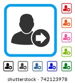 next user icon. flat grey... | Shutterstock .eps vector #742123978