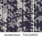 abstract grunge vector... | Shutterstock .eps vector #742124053