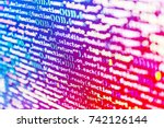 digital technology on display.... | Shutterstock . vector #742126144