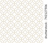 arabic geometric abstract deco... | Shutterstock .eps vector #742127506
