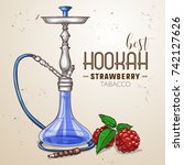 vector hand drawn hookah | Shutterstock .eps vector #742127626