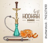 vector hand drawn hookah | Shutterstock .eps vector #742127650