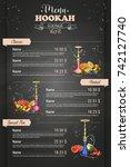 vector color menu design | Shutterstock .eps vector #742127740