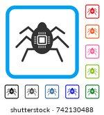 hardware bug icon. flat grey...