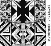 seamless geometric african... | Shutterstock .eps vector #742131268