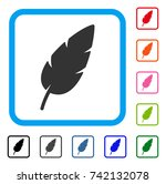 feather icon. flat gray...