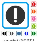 exclamation icon. flat gray... | Shutterstock .eps vector #742132114