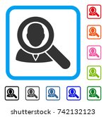 find user icon. flat gray...