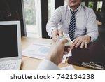business team working on... | Shutterstock . vector #742134238