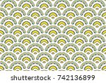 colorful textured seamless... | Shutterstock . vector #742136899