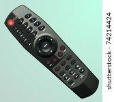 Vector Plastic Black Remote...