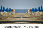 perfectly specular and... | Shutterstock . vector #742149700