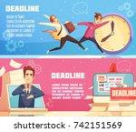 workloads deadline pressures... | Shutterstock .eps vector #742151569