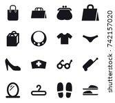 16 vector icon set   shopping...   Shutterstock .eps vector #742157020