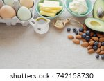 keto  ketogenic diet   low carb ...   Shutterstock . vector #742158730