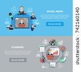 business meeting horizontal...   Shutterstock .eps vector #742160140