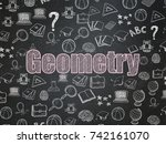 studying concept  chalk pink... | Shutterstock . vector #742161070