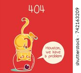 404. funny cat | Shutterstock .eps vector #742163209
