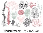 vector collection of hand drawn ... | Shutterstock .eps vector #742166260