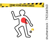 Crime Scene  Danger Tapes And...
