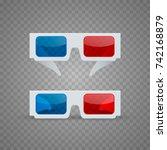 3d glasses object set on a...   Shutterstock .eps vector #742168879