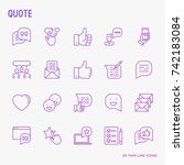 testimonials and quote thin...   Shutterstock .eps vector #742183084