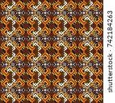 graphic vector pattern....   Shutterstock .eps vector #742184263