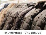 winter jacket in winter sale on ...   Shutterstock . vector #742185778