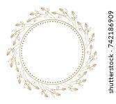 vector floral vintage frame on...   Shutterstock .eps vector #742186909